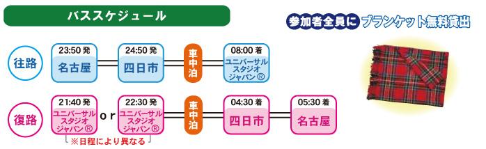 名古屋ユニバーサルスタジオバススケジュール
