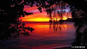 父島 夕陽