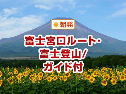 【関東発】富士宮口ルート/専任ガイド付/山小屋おまかせ