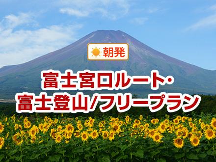 【関東発】富士宮口ルート/専任ガイドなし/山小屋おまかせ