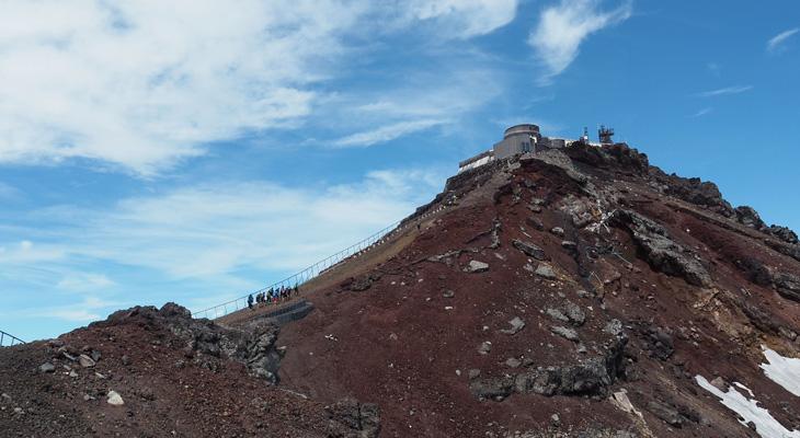 剣ヶ峰の眺望