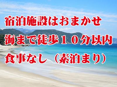 秘境ヒリゾ浜でシュノーケリングツアー付☆素泊まりバリュー(宿泊施設は旅行会社におまかせ)