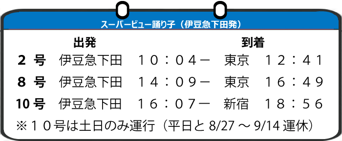 時刻表(帰り)