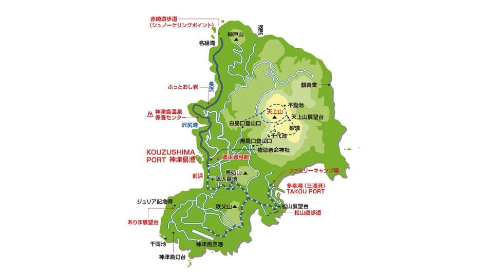 神津島 地図