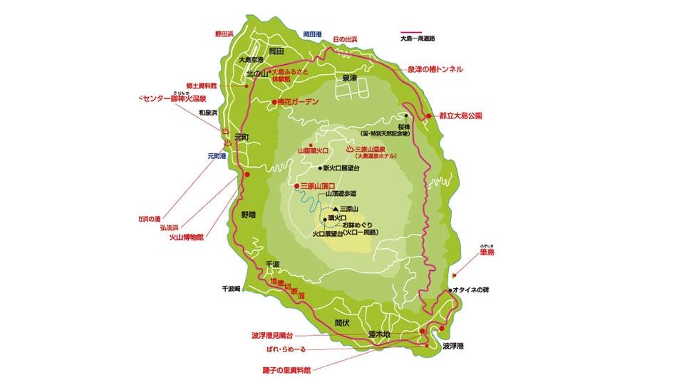 伊豆大島 地図