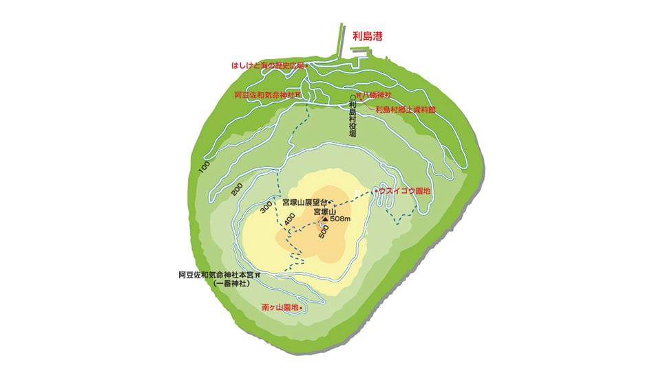 利島 地図