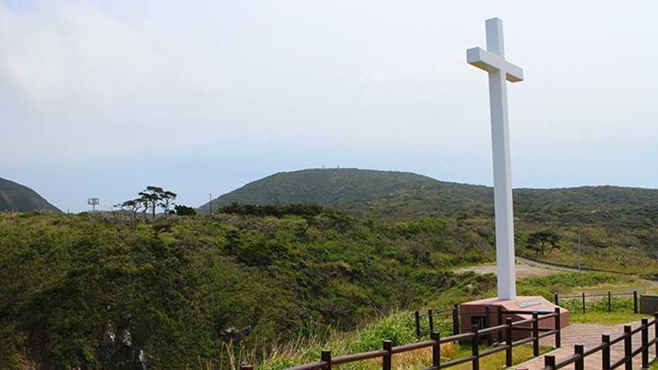 神津島 ありま展望台 ジュリアの十字架