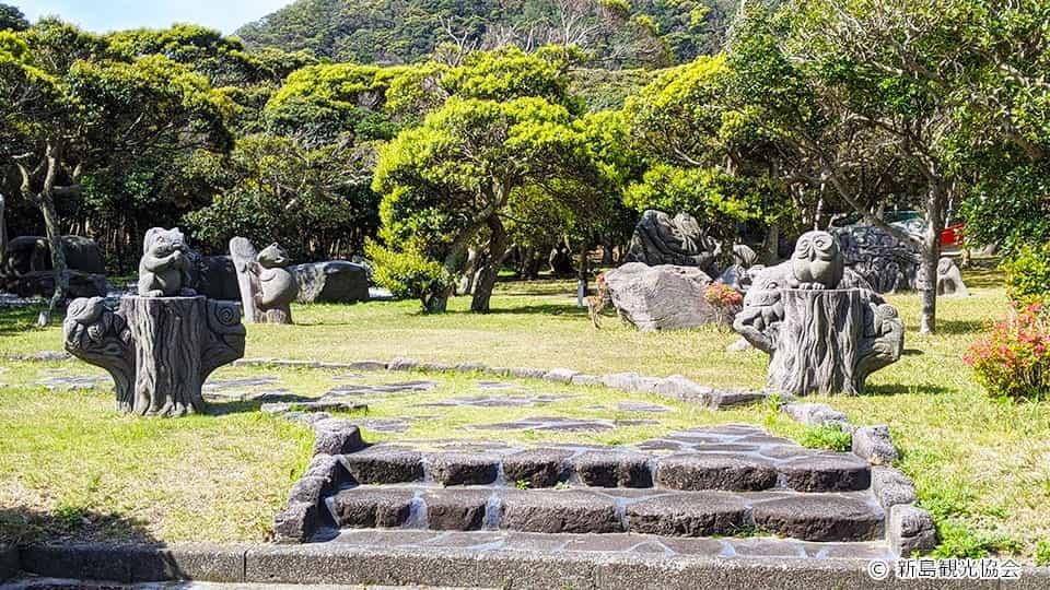 新島 石の動物園