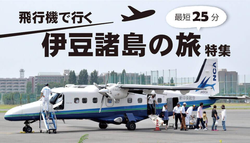 飛行機で行く伊豆諸島特集