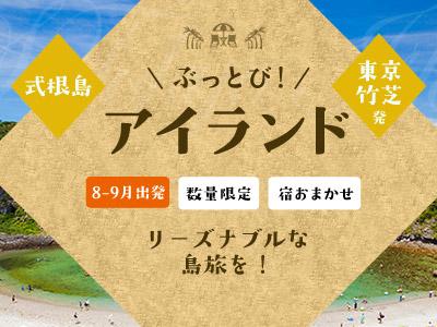 ☆しまぽ適用☆【8-9月出発】ぶっとびアイランド式根島
