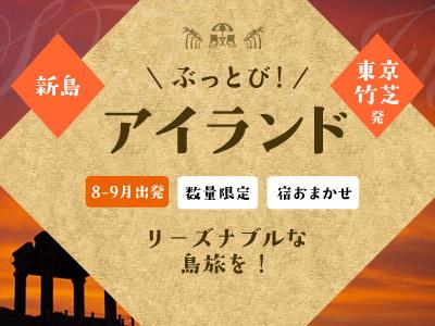 ☆しまぽ適用☆【8-9月出発】ぶっとびアイランド新島