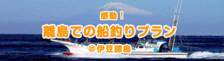 感動!離島で船釣プラン @伊豆諸島