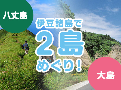 2島めぐり!☆八丈島×大島☆ハッピーバリュー【民宿クラス】