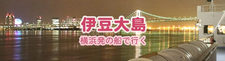 伊豆大島へ 横浜発の船で行く