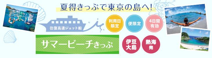 【サマービーチきっぷ利用】伊豆大島へ 熱海発のジェット船で行く