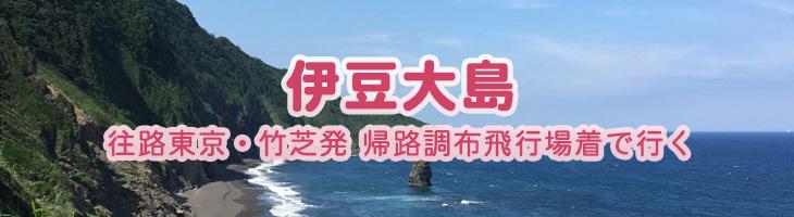 伊豆大島へ 【往路】東京・竹芝発【復路】調布着で行く
