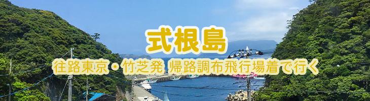 式根島ツアー 【往路】東京・竹芝発【復路】調布飛行場着で行く
