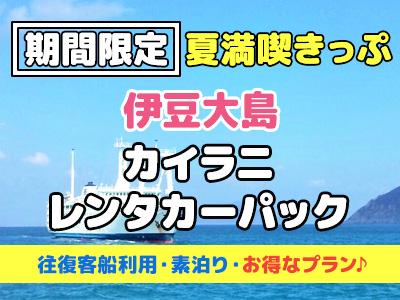 【夏満喫きっぷ】《レンタカー付》ホテルカイラニ☆素泊り