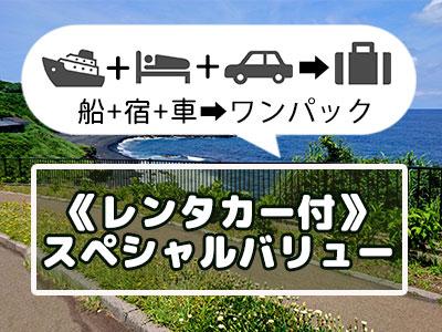 《レンタカー付》三宅島スペシャルバリュー【民宿クラス】