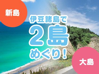 2島めぐり!☆新島×大島☆ハッピーバリュー【民宿クラス】