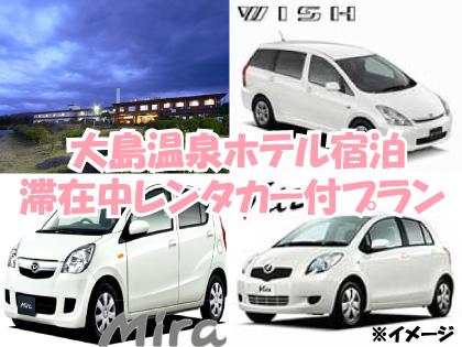 【滞在中レンタカー付】大島温泉ホテル