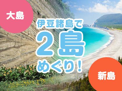 2島めぐり!☆大島×新島☆ハッピーバリュー【民宿クラス】