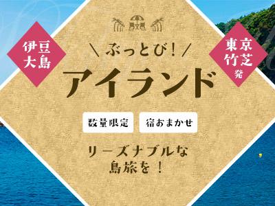 ☆しまぽ適用☆【11-12月出発】ぶっとびアイランド伊豆大島