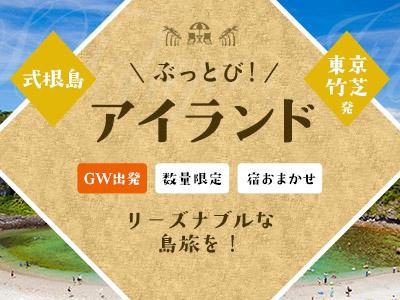 ☆しまぽ適用☆【11-12月出発】ぶっとびアイランド式根島