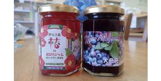 【伊豆大島】フジカフェ 椿の花びら、ブルーベリーと共に藤倉学園でとれたものを使用しています。美味しいですよ。