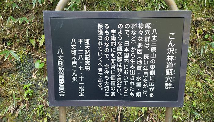 【八丈島】ポットホール(こん沢林道甌穴群)