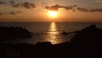 南原千畳敷の夕日