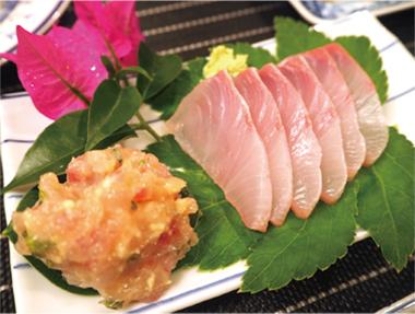【新島】 お宿 そうめいまる 新島近海で捕れた新鮮な魚を提供しているので、旬の美味しさを堪能できます。
