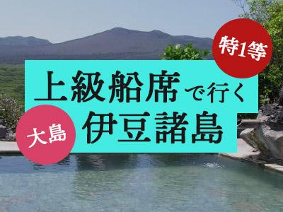 特1等船席で行く!大島温泉ホテル