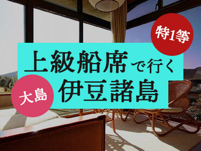 特1等船席で行く!【三原山一望特別室】大島温泉ホテル