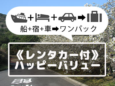 《レンタカー付》伊豆大島ハッピーバリュー