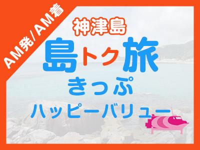 《AM発/AM着》往復JET船☆神津島ハッピーバリュー