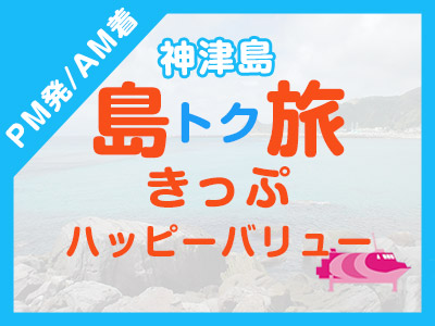 《PM発/AM着》往復JET船☆神津島ハッピーバリュー