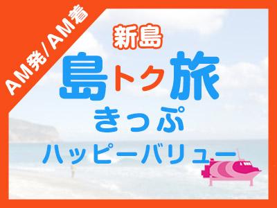 《AM発/AM着》往復JET船☆新島ハッピーバリュー