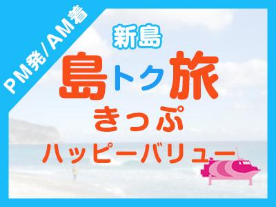 《PM発/AM着》往復JET船☆新島ハッピーバリュー