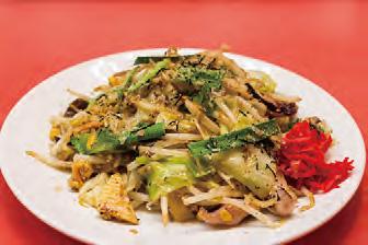 【父島】波食波食(ぱくぱく) 地魚のつみれと島野菜が入ったボリューム満点の野菜炒めです。 +250円でご飯、味噌汁、小鉢が付いた定食にもできます。