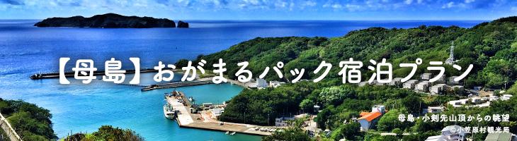 【母島】おがまるパック 宿泊プラン