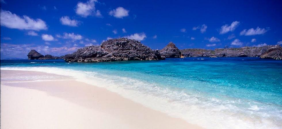 ボニンブルーと称される美しく濃い青色の海はダイバーにとっては憧れの海。