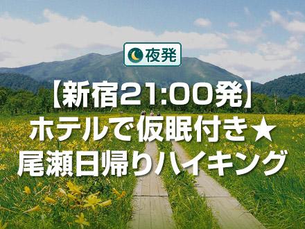 【新宿21:00発】ホテルで仮眠付き★尾瀬日帰りハイキング